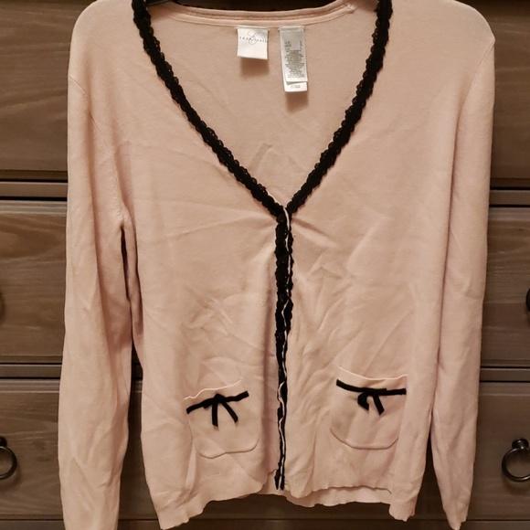 Emma James Sweaters - Pink & Black Cardigan